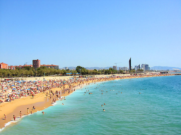 Seaside in Barcelona