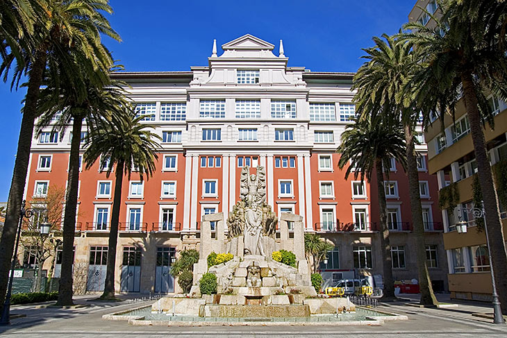 Fountain in A Coruna